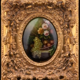 Цветы и фрукты, натюрморт, Германия кон. 19 - нач. 20 вв