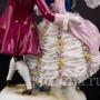 Фарфоровая статуэтка Балерина Камарго с кавалером, кружевная, Volkstedt, Германия, до 1935 года.